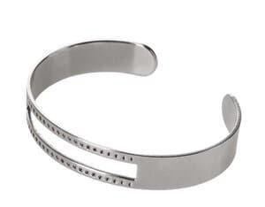 Bracelet, env. 145 x 10 mm, couleur platine