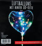 Luftballon mit LED-Lichterkette, Herz (300 mm)