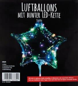 Ballon - Ster met LED verlichting (300 mm)