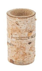 Berkenstam theelichthouder, ca. 50-60x100 mm