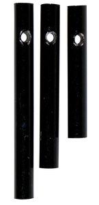 Klankstaven (ø 0,6 x 4/5/6 cm) zwart, 3 stuks