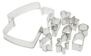 Ausstechformen Metall, 10-tlg. Haus (14 cm)