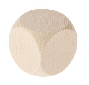 Beuken dobbelsteen, afgeronde hoeken, 60 mm