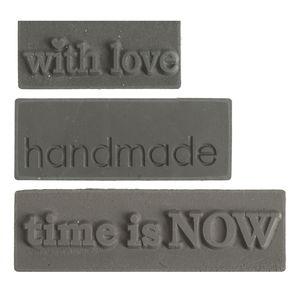 Zeeplabel mal - Love, Handmade, Time, 3 stuks