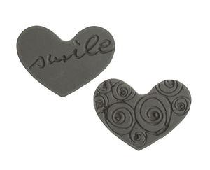 Labels zum Eingießen, Herzen, 2 Stück (30x22 mm)