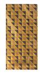 Wasfolie 'Ruit', goud/zwart (20 x 10 cm)