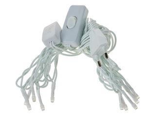 LED-lichtsnoer met schakelaar, wit, 10 lampjes