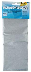 Carta seta, 20 g/mq, color argento, 5 fogli