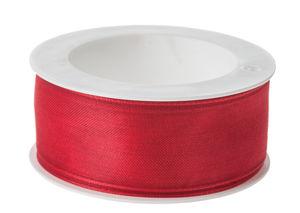 Cinta de organza (25 mm x 5 m) rojo