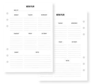 Carpe Diem - Recepten maandplanner A5, 54-delig