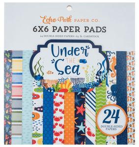 Bloc de papier imprimé, 24 feuilles Under the sea