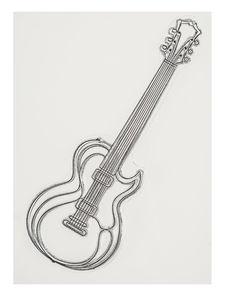 DoodleStamp Silikonstempel, Gitarre