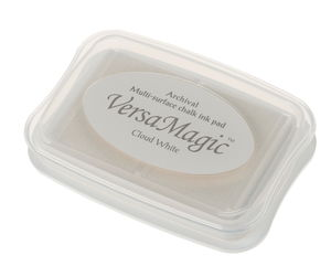 Stempelkussen Chalk (9,9 x 6,8 x 1,9 cm) wit