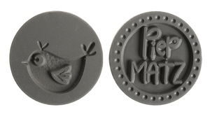 Etiquetas para moldear - Piepmatz, 2 ud.