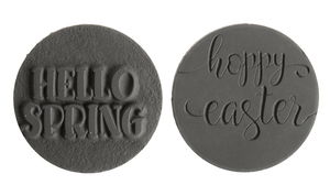 Zeeplabel mal - Hello Spring/Happy Easter, 2 stuks