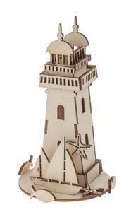Holzbausatz Leuchtturm, 25 Teile