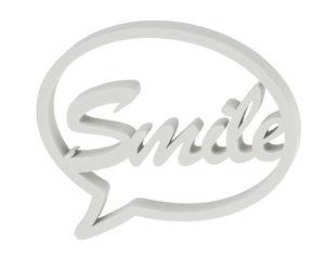 Globo diálogo de madera - Smile (110 x 95 mm)