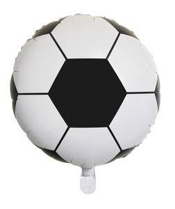 Folienballon, Fußball schwarz/weiß (46 cm)