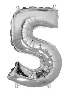 Globo de papel de aluminio - Número '5' (40 cm)