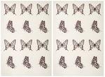 Abziehmotive, 24 Stück Schmetterlinge (25 mm)
