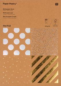 Kraft-Motivblock Hotfoil, 20 Blatt (21 x 30 cm)