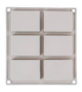 Zeepgietvorm, 1 vorm - 6 rechthoeken