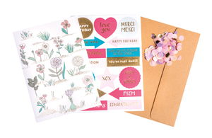 DIY Card-Set Hygge Flowers, B6