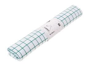 Katoenen stof - geruit (50 x 140 cm) wit/groen