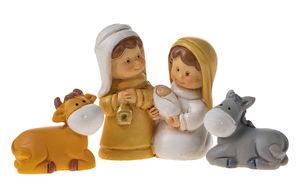 Resina - Santa Famiglia con asinello e bue