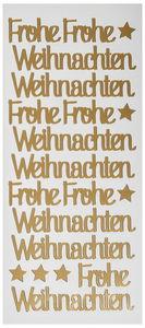 Stickers - Frohe Weihnachten (100 x 230 mm) goud