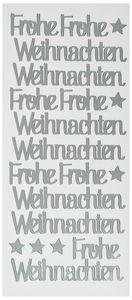 Stickers - Frohe Weihnachten (100 x 230 mm) zilver