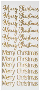 Stickers - Merry Christmas (100 x 230 mm) goud