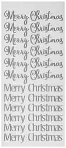 Stickers - Merry Christmas (100 x 230 mm) zilver
