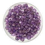 Rocallas envejecidas, púrpura, 120 ud. (4mm)