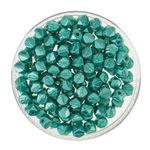 Rocallas envejecidas (4 mm) esmeralda, 120 ud.