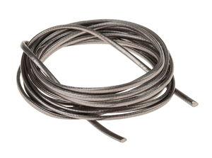 Cordon en simili cuir, métallisé anthracite