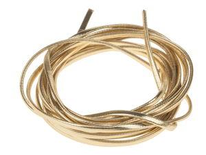 Kunstlederband metallic flach, 2 m gold (3 mm)