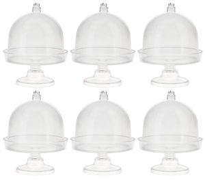 Kunststof - mini etagères (6 x 8 cm) 6 stuks