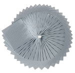 Origami papier strepen (10x10cm) wit/zilver 50 vel