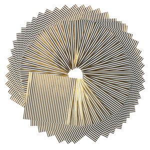 Origami papier strepen (10x10cm) wit/goud, 50 vel