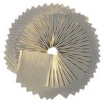 Papier origami - Rayures Hotfoil, blanc/or