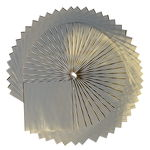 Papel Origami - Rayas Hotfoil (blanco/oro) 50 h