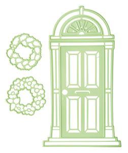 Gabarit de gaufrage/découpe Porte avec couronne