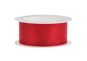 Band - Glitter (2m x 25 mm) rood