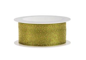 Band - Glitter (2m x 25 mm) rietgroen