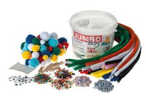 Jumbo Bastelbox - Biegespaß, 1500 Teile im Eimer