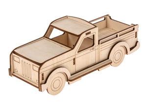 Holzbausatz 3D Lastwagen klein, 14-teilig