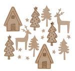 Streuteile Holz, 18 Stück Winterhome
