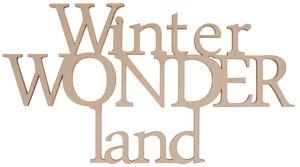 Houten tekst - Winterwonderland (22 x 11,9 cm)