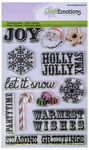 CraftEmotions Clear Stamp, 12er-Set Christmas Text